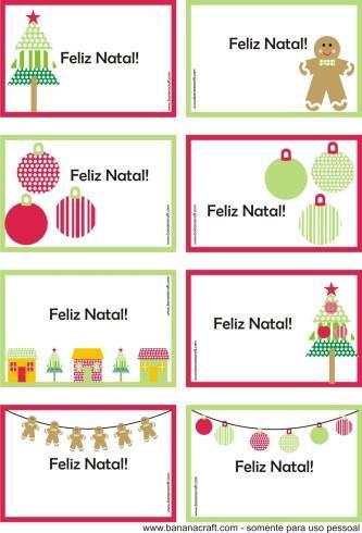 modelo de mini cartão de natal para imprimir