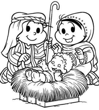 modelos de desenhos natalinos para imprimir turma da monica