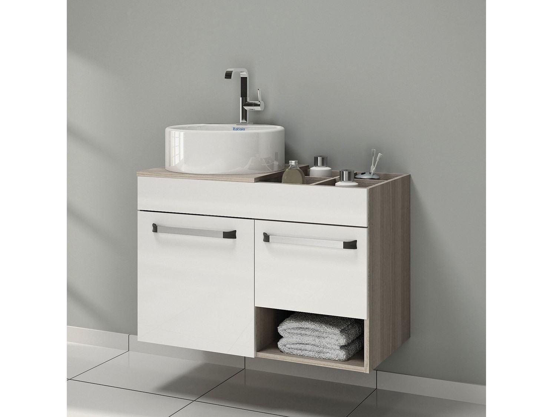 Gabinete de banheiro pequeno sob medida com cuba ou pia  So Detalhe -> Gabinete Para Banheiro Pequeno Telhanorte
