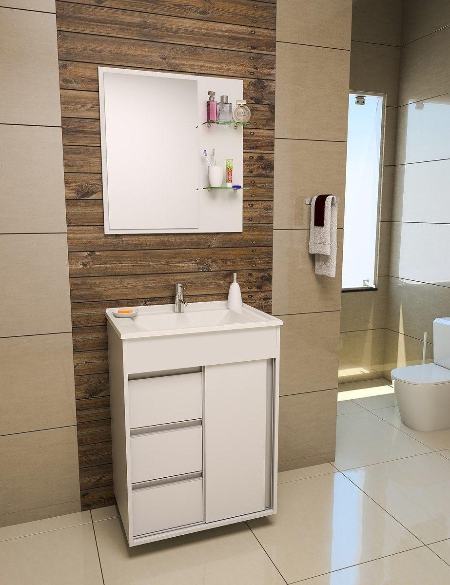 Gabinete de banheiro pequeno sob medida com cuba ou pia - Modelos de armarios ...