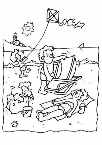 tipos de desenhos do verão para pintar