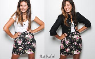 tipos de saias floridas cintura alta
