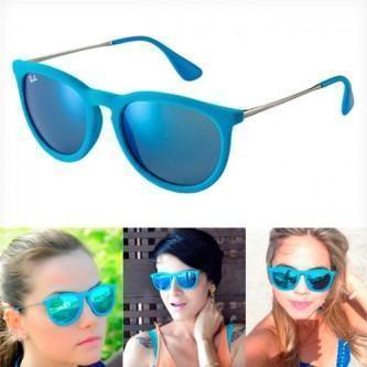 óculos de sol espelhado ray-ban azul