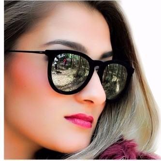 óculos de sol espelhado ray-ban de veludo