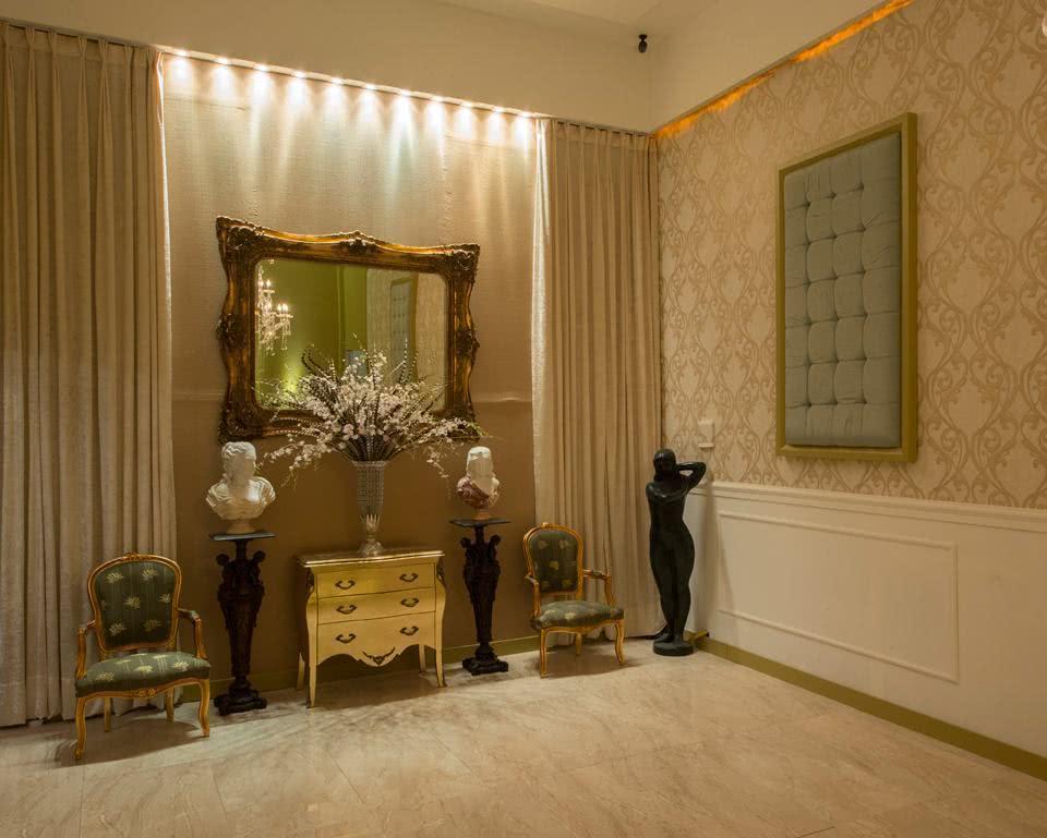 Hall de entrada com papel de parede dicas modernas pra - Papel pared entrada ...