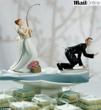 bolo de casamento engraçado