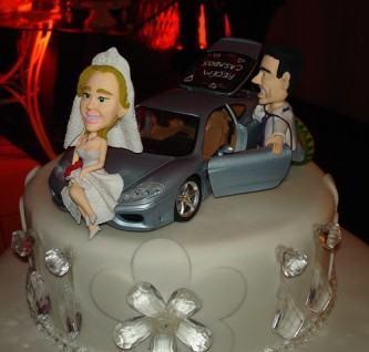bolo de casamento engraçado carro