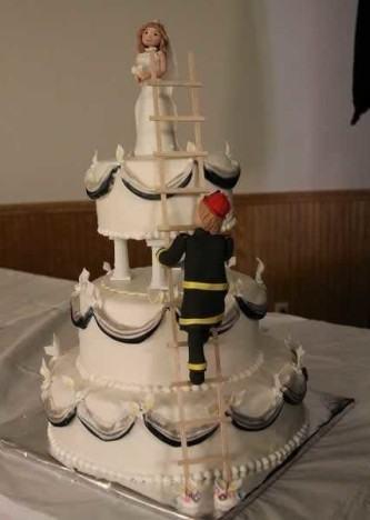 dicas de bolo de casamento engraçado