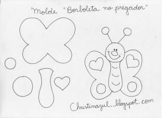 modelos de moldes de borboleta em eva 333x242 - Moldes de borboleta em EVA para fazer um belo artesanato decorativo