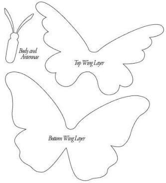 moldes de borboleta em eva 333x368 - Moldes de borboleta em EVA para fazer um belo artesanato decorativo
