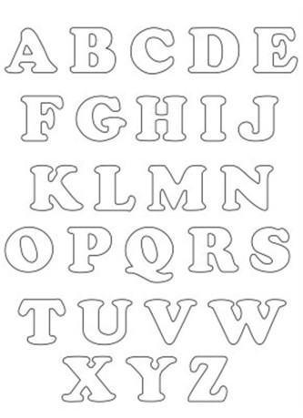moldes do alfabeto para colorir 333x459 - Moldes do alfabeto para colorir e aprender brincando