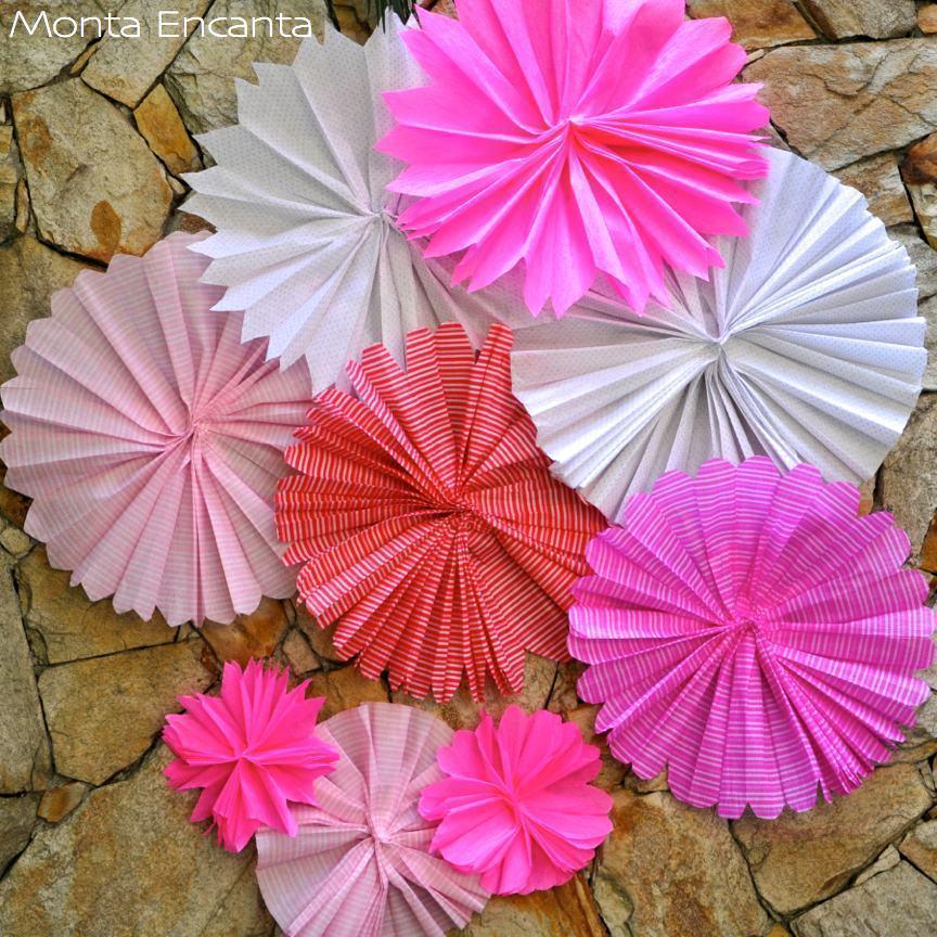 Como fazer Flores de papel crepom para lembrancinhas Só Detalhe -> Decoração De Papel Crepom Como Fazer