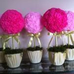 vasos de flores de papel crepom 150x150 - Como fazer Flores de papel crepom para lembrancinhas