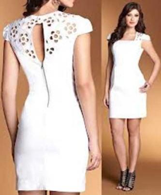vestidos femininos da moda branco