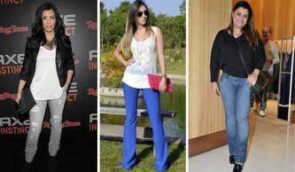 calça jeans para baixinhas