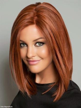 fotos de cabelos ruivos chanel