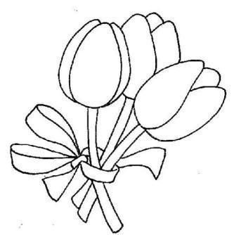 fotos de tulipas para pintar