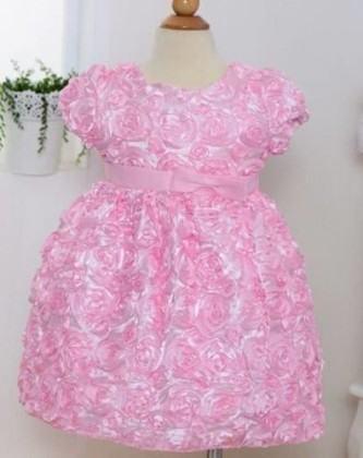 vestidos para aniversário de bebe rosa