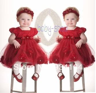 vestidos para aniversário de bebe vermelho