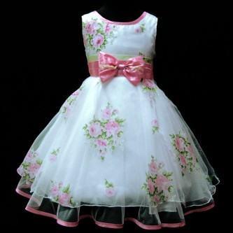 vestidos para aniversario infantil floral