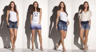 roupas curtas para gestantes