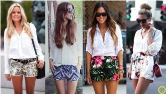 shorts estampados curtinhos