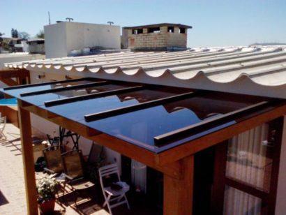 como vedar telhado de vidro