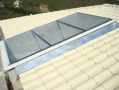 como vedar telhado de vidro imagem
