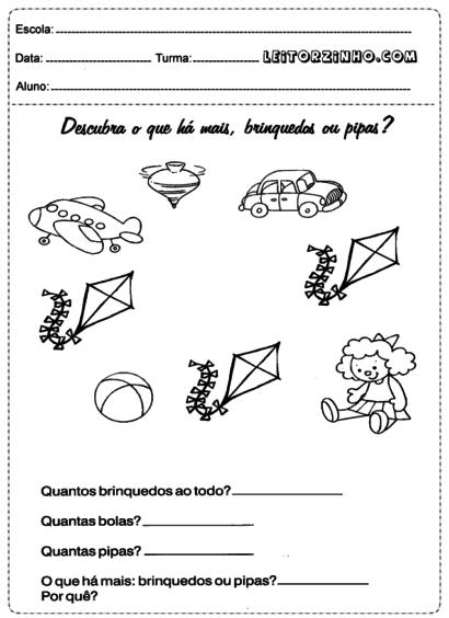 atividades de matemática 1 série