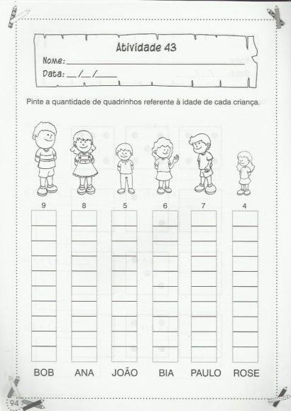 atividades de matemática 1 série para colorir