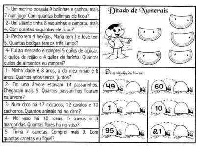 atividades de matemática 2 ano ditado de numerais