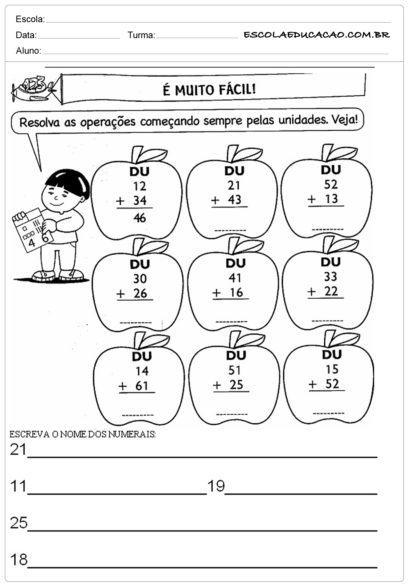 atividades de matemática 2 ano para escolas