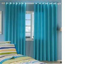 cortinas decorativas para quarto azul