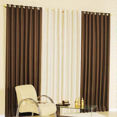 cortinas decorativas para quarto branca e marrom