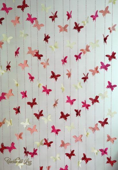 cortinas decorativas para quarto com borboletas