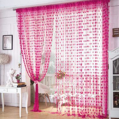 cortinas decorativas para quarto com corações