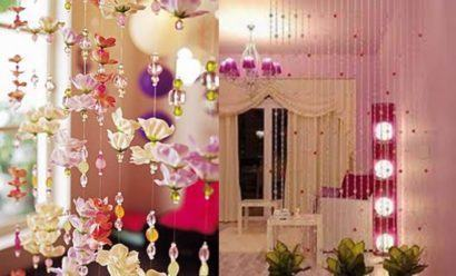 cortinas decorativas para quarto com enfeites