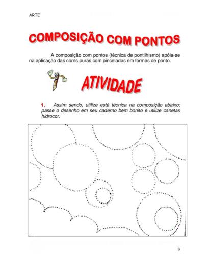 atividades de arte para o 5 ano Composição com pontos