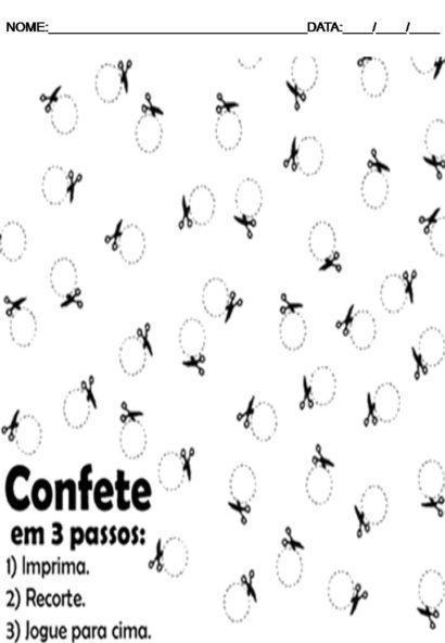 atividades de arte para o 5 ano Confete