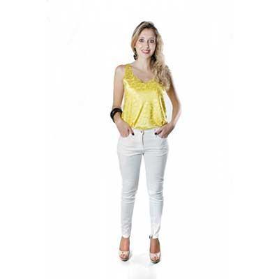 blusas femininas sem manga de cetim look 1 - Blusas femininas sem MANGA moda verão