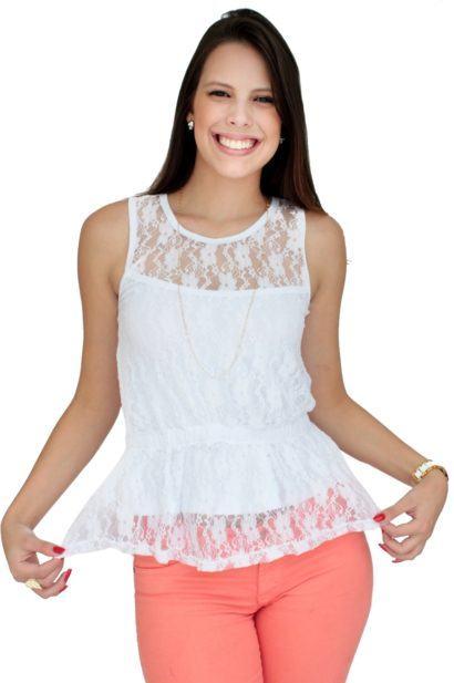 blusas femininas sem manga de renda 1 410x617 - Blusas femininas sem MANGA moda verão