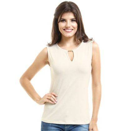 blusas femininas sem manga lisa 1 410x422 - Blusas femininas sem MANGA moda verão