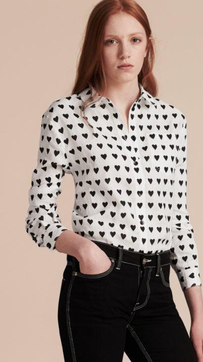 blusinhas femininas de seda com estampa de corações