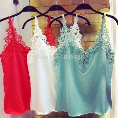 blusinhas femininas de seda com renda 410x410 - Blusinhas femininas de seda looks pra usar com saia e calça