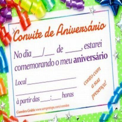 convites prontos para editar de aniversário dicas