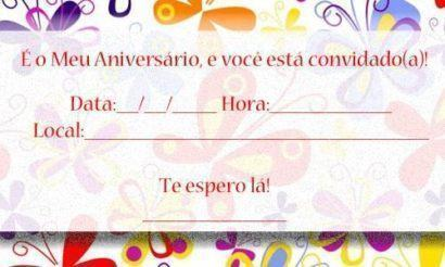 convites prontos para editar de aniversário simples