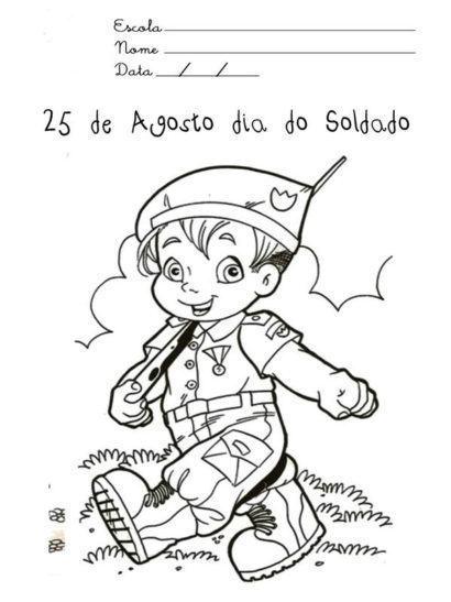 dia do soldado 25 de agosto para colorir 410x547 - Mensagens do Dia do Soldado em imagens para compartilhar