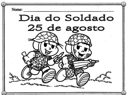 dia do soldado Turma da Mônica
