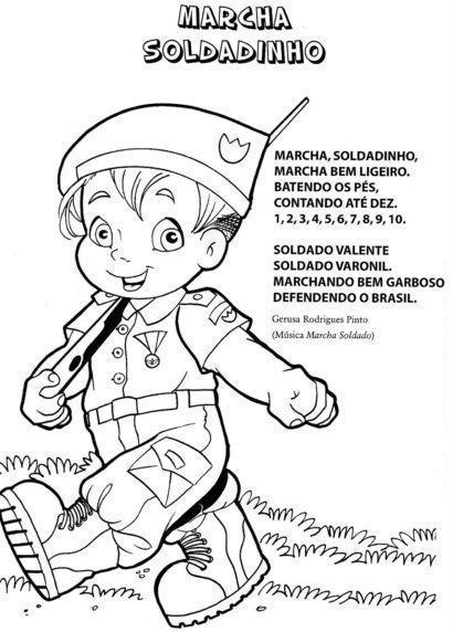 dia do soldado atividades infantis 410x572 - Mensagens do Dia do Soldado em imagens para compartilhar