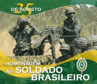dia do soldado brasileiro 410x353 - Mensagens do Dia do Soldado em imagens para compartilhar